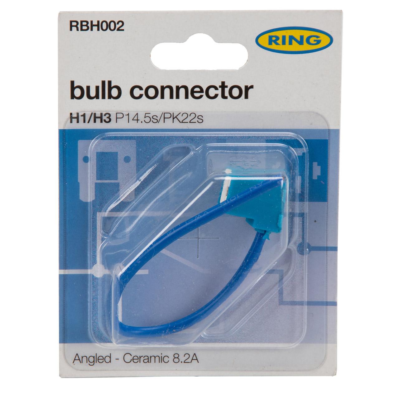 RING RBH002 Stecker Hauptscheinwerfer Lampenfassung Sockel H1 / H3
