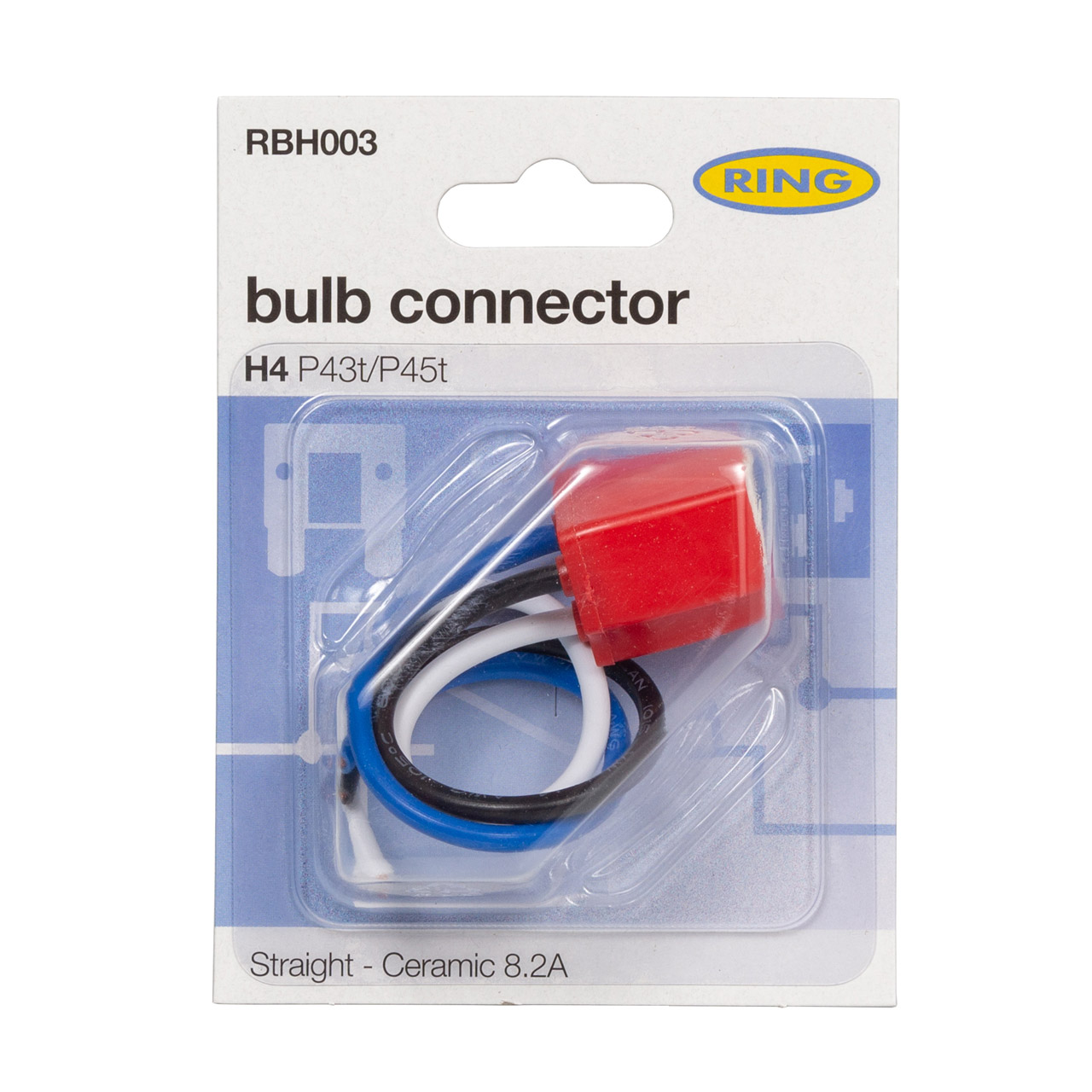 RING RBH003 Stecker Hauptscheinwerfer Fassung Lampenfassung Keramik Sockel H4