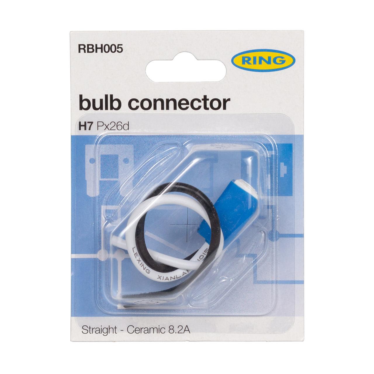 RING RBH005 Stecker Hauptscheinwerfer Fassung Lampenfassung Keramik Sockel H7