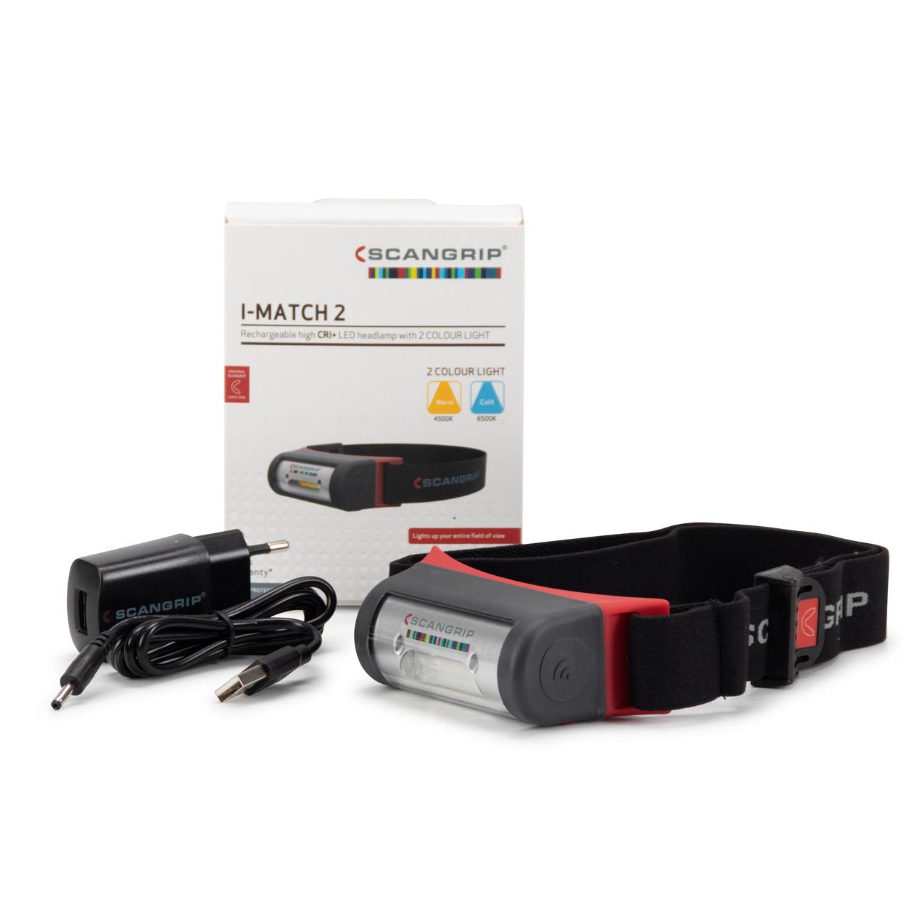 SCANGRIP I-Match 2 Akku COB-LED Sensor Kopflampe Stirnlampe Arbeitsleuchte
