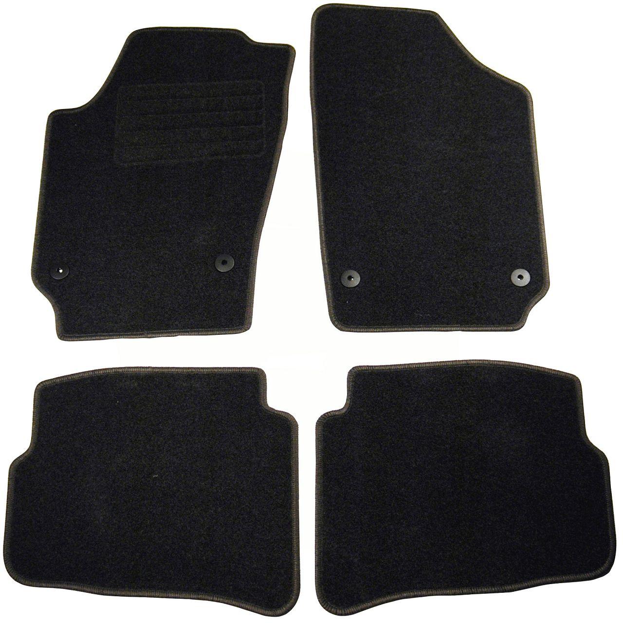 Veloursmatten Textilmatten Fußmatten für VW Polo (9N) bis 06.2003 4-tlg