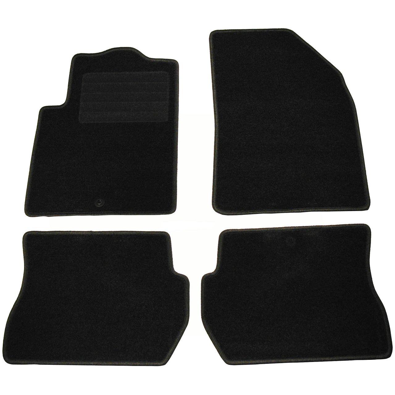 Veloursmatten Textilmatten Fußmatten FORD Fiesta 5 MK5 Fusion (JU_) ab 11.2004 4-tlg