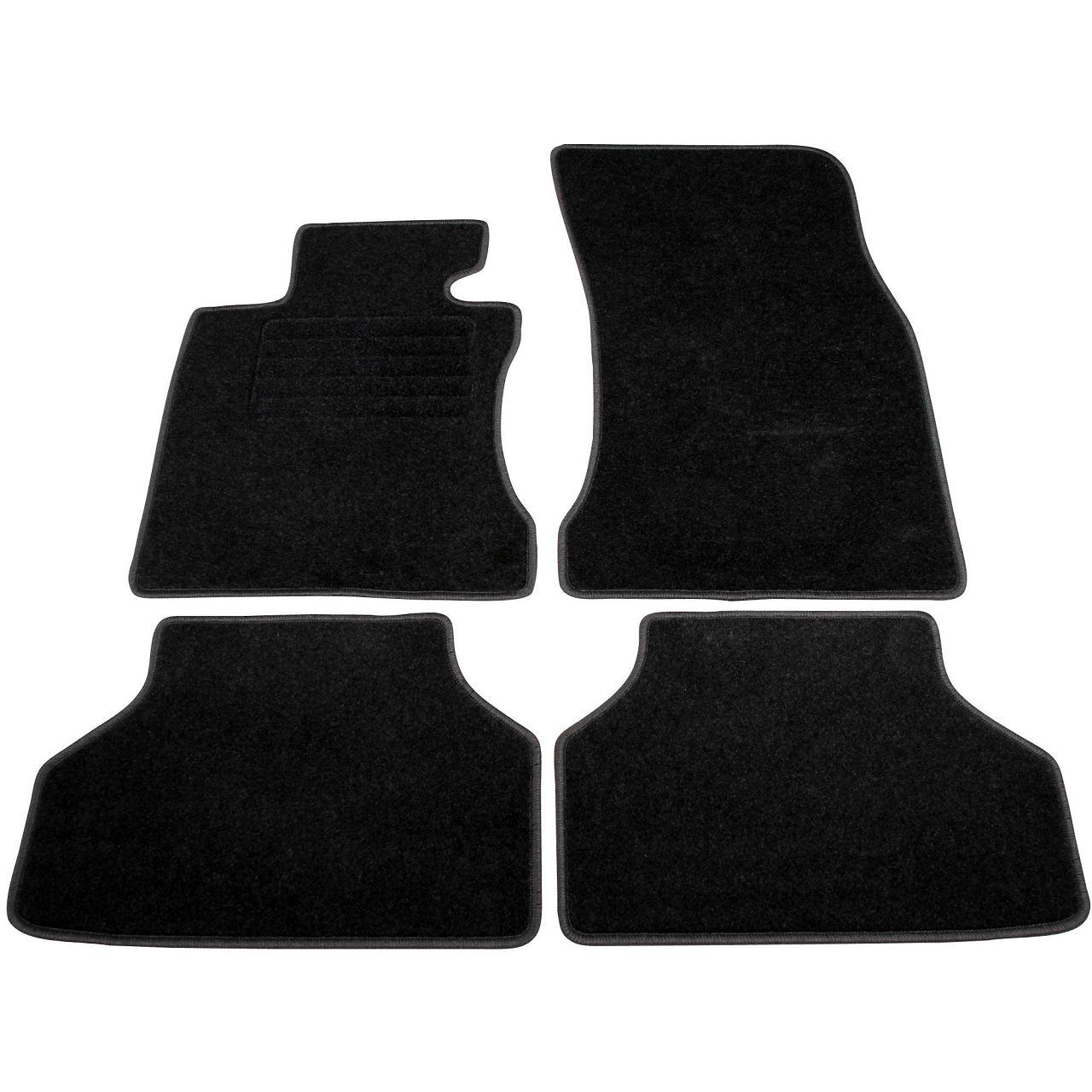 Veloursmatten Textilmatten Fußmatten BMW 5er E60 E61 Limousine + Kombi 4-tlg.