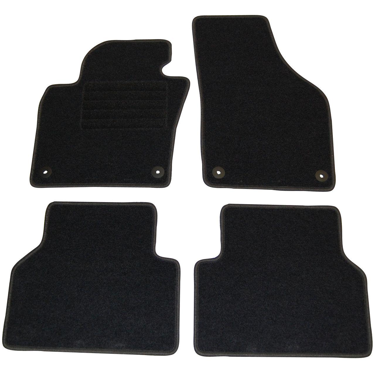 Veloursmatten Textilmatten Fußmatten Automatten Satz für VW Tiguan (5N) 4-tlg