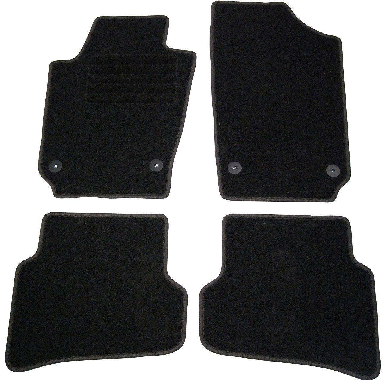 Veloursmatten Textilmatten Fußmatten SEAT Ibiza 4 + ST (6J) 5-Türer 4-teilig