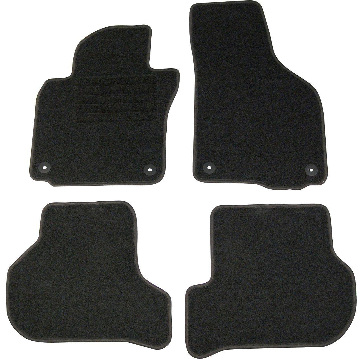 Veloursmatten Textilmatten Fußmatten Automatten Satz für VW GOLF VI / 6 (5K1)