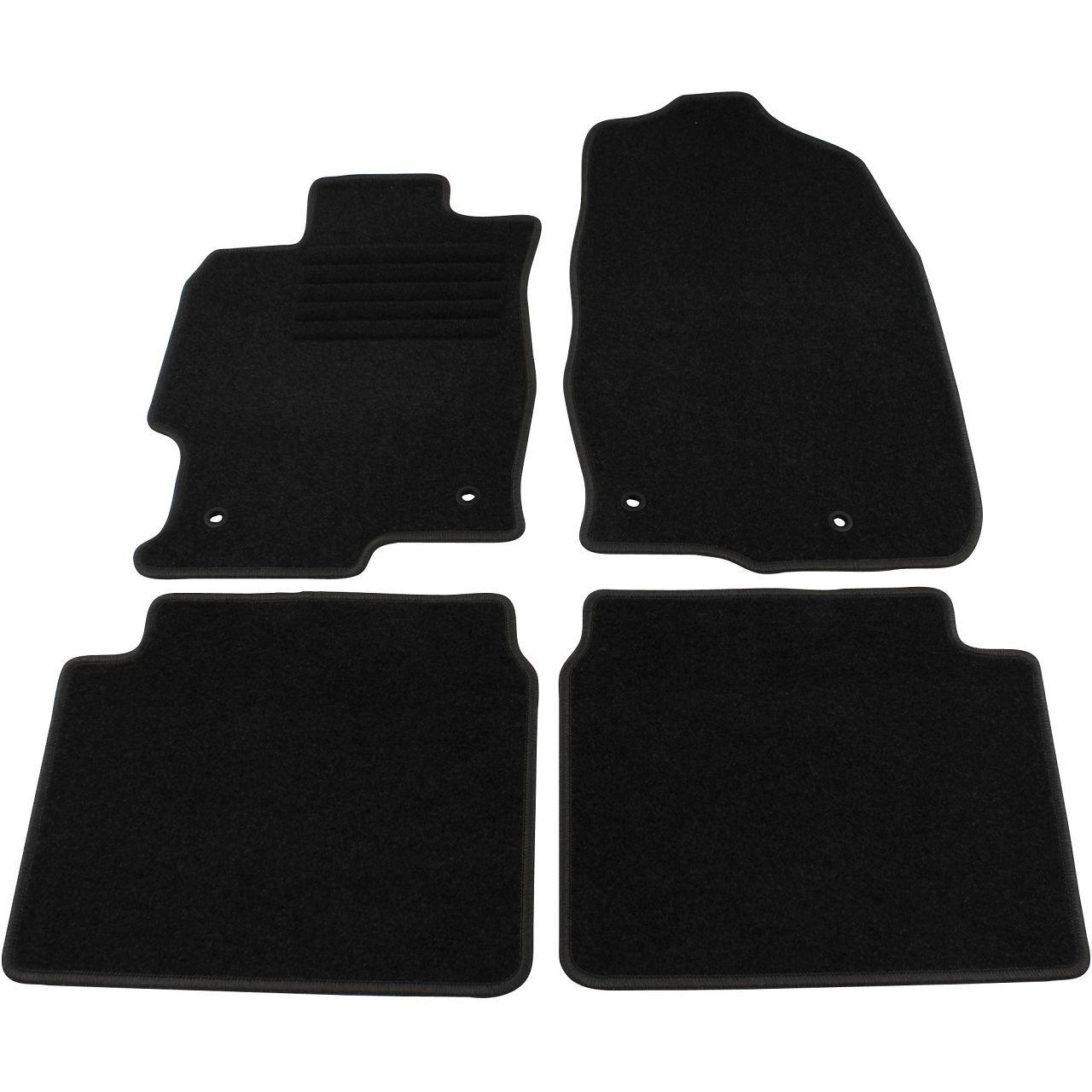 Veloursmatten Textilmatten Fußmatten für Mazda 6 Sport Kombi (GH) 4-tlg