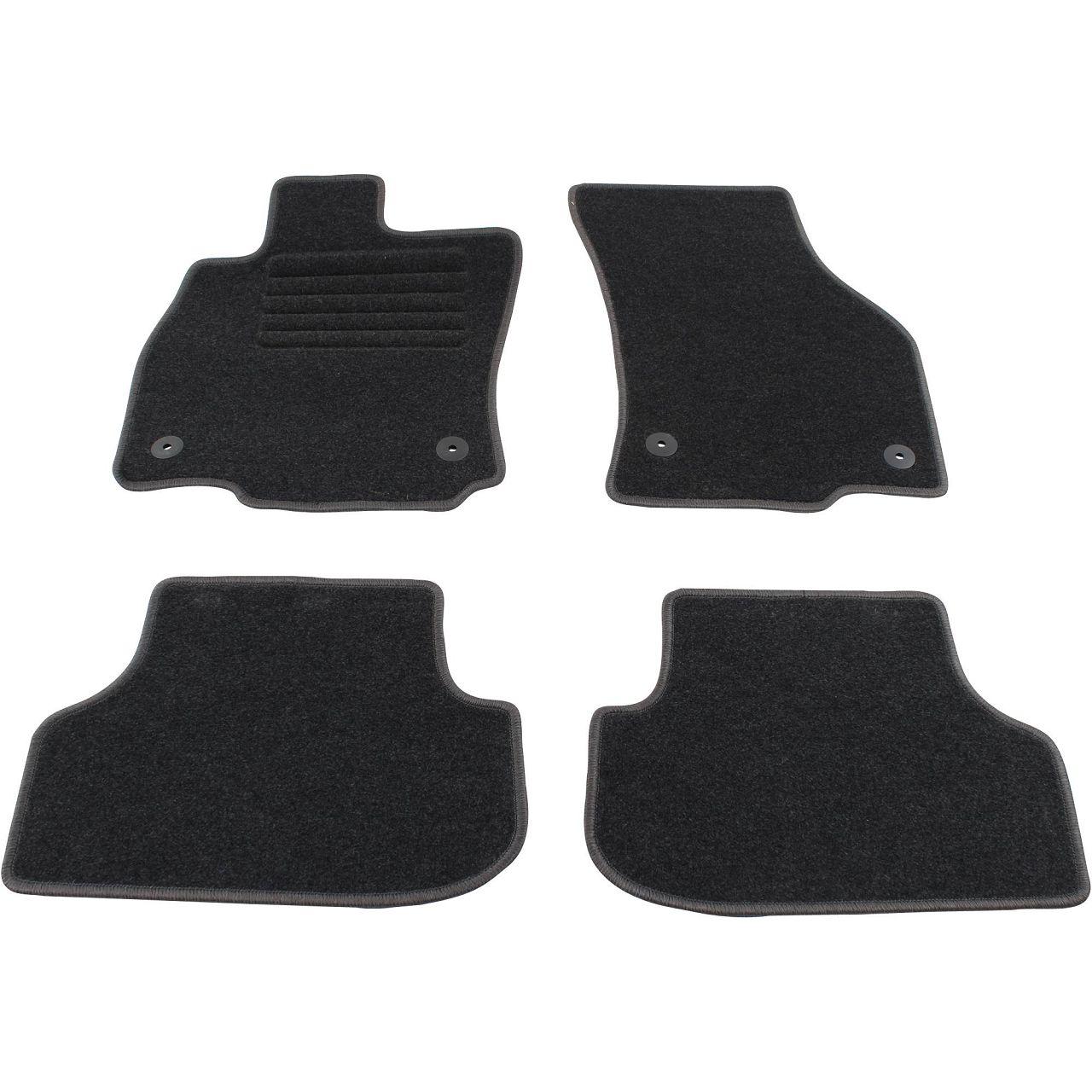 Veloursmatten Textilmatten Fußmatten für SEAT LEON / SC / ST (5F) 4-tlg