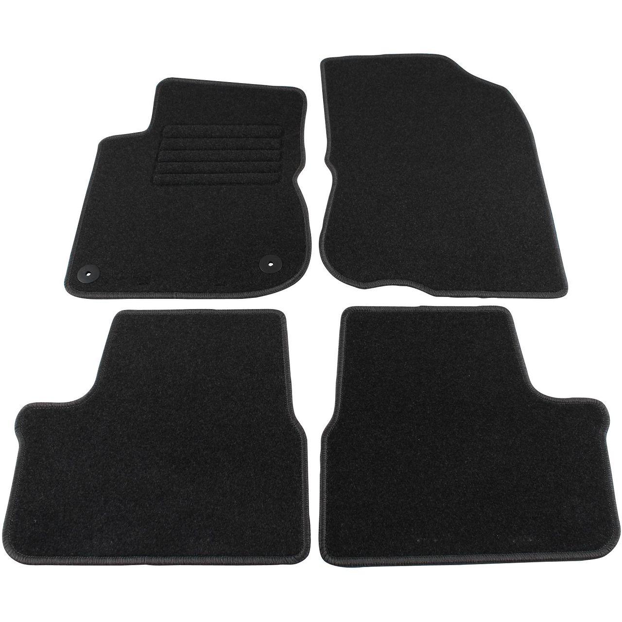 Veloursmatten Textilmatten Fußmatten für Peugeot 2008 ab 03.2013 4-tlg