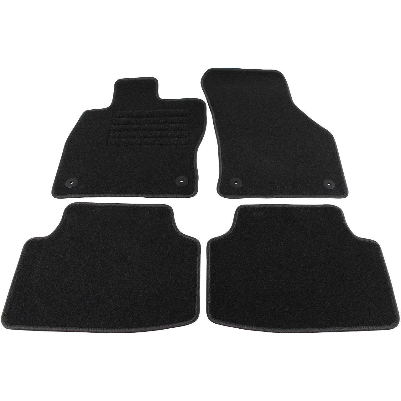 SCHÖNEK Veloursmatten Textilmatten Fußmatten SKODA Octavia 3 5E Combi ab 05.2013 4-teilig