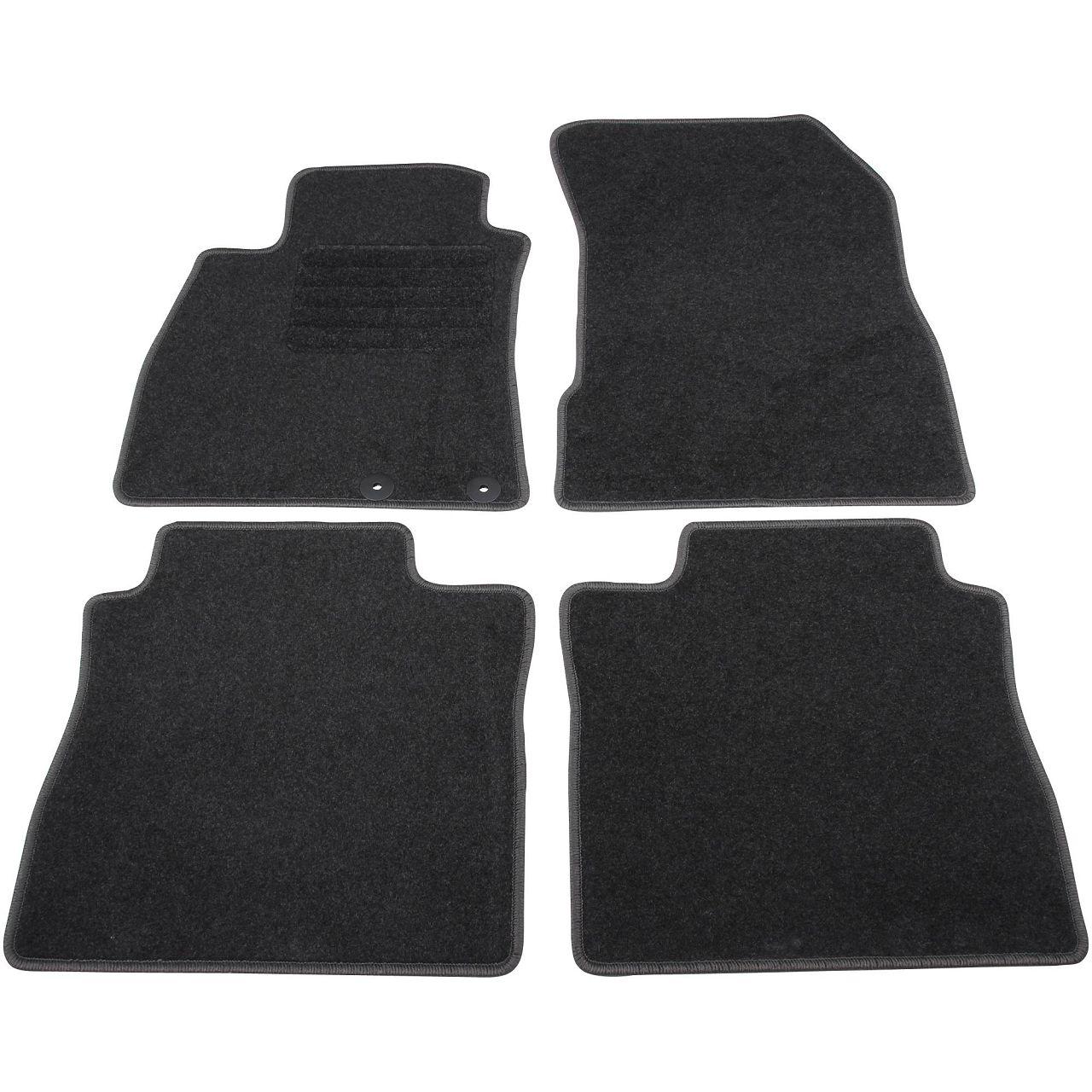 SCHÖNEK Veloursmatten Textilmatten Fußmatten NISSAN Note E12 4-teilig