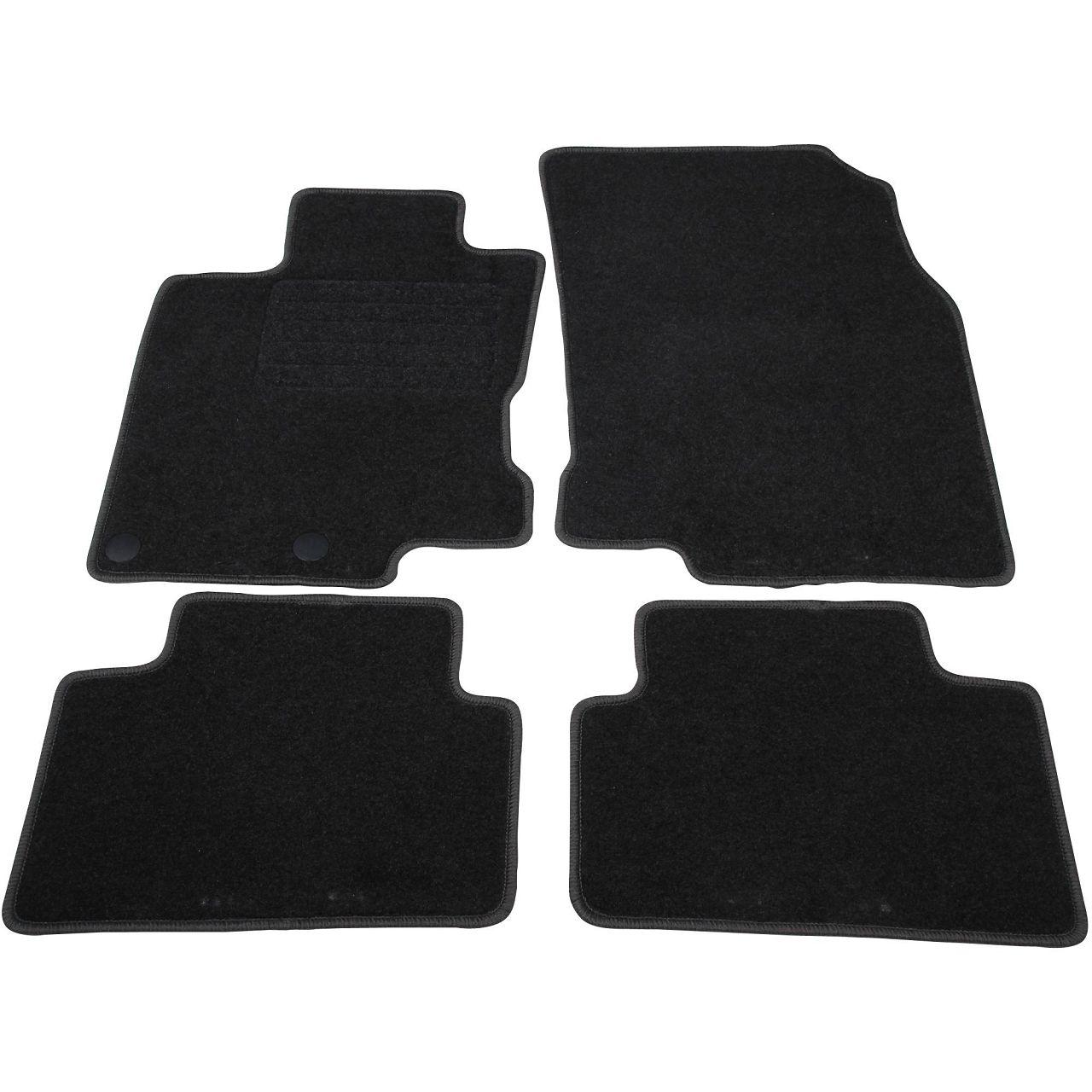 SCHÖNEK Veloursmatten Textilmatten Fußmatten NISSAN Qashqai II J11 5-Sitzer 4-tlg