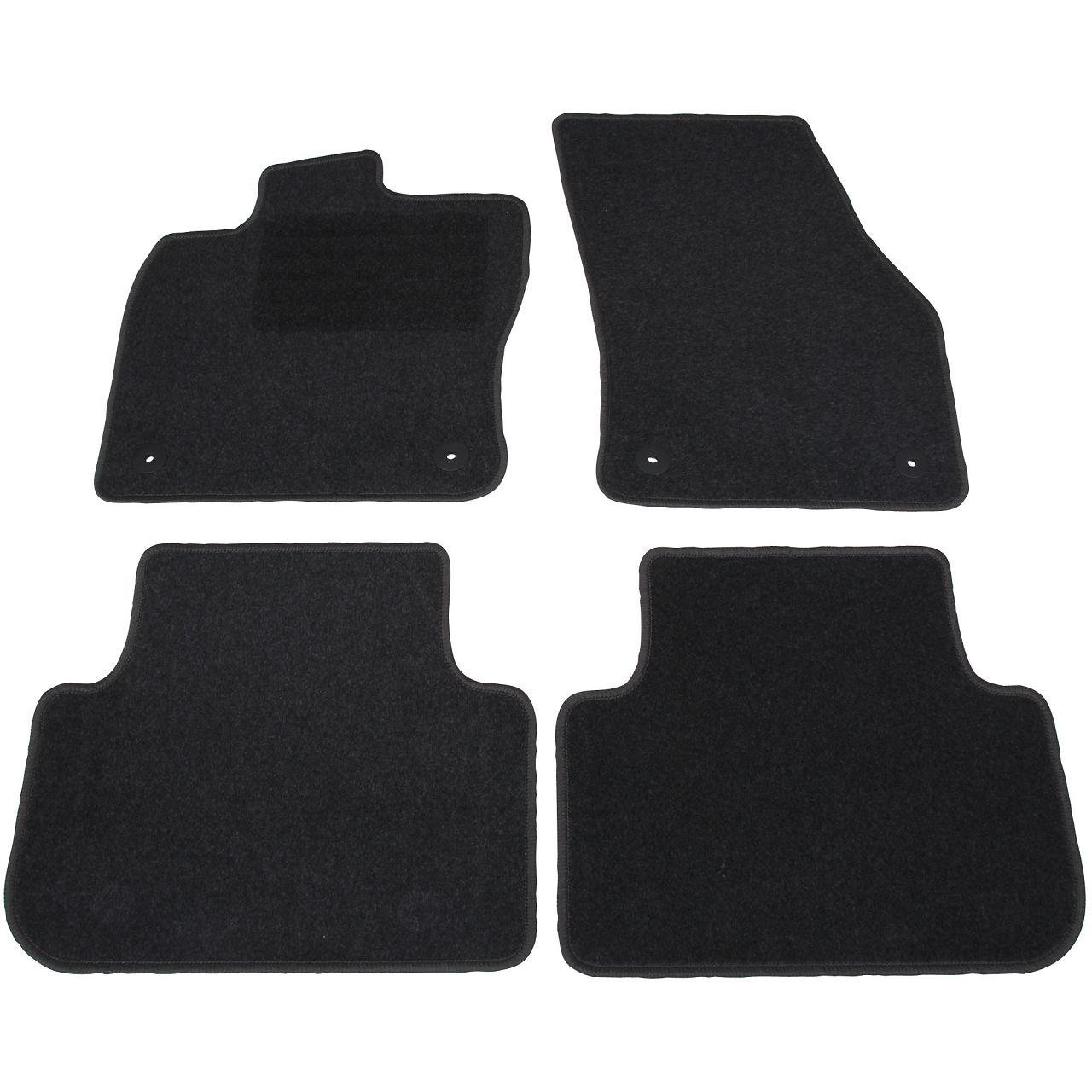 Veloursmatten Textilmatten Fußmatten Automatten Satz 4-tlg für VW GOLF SPORTSVAN