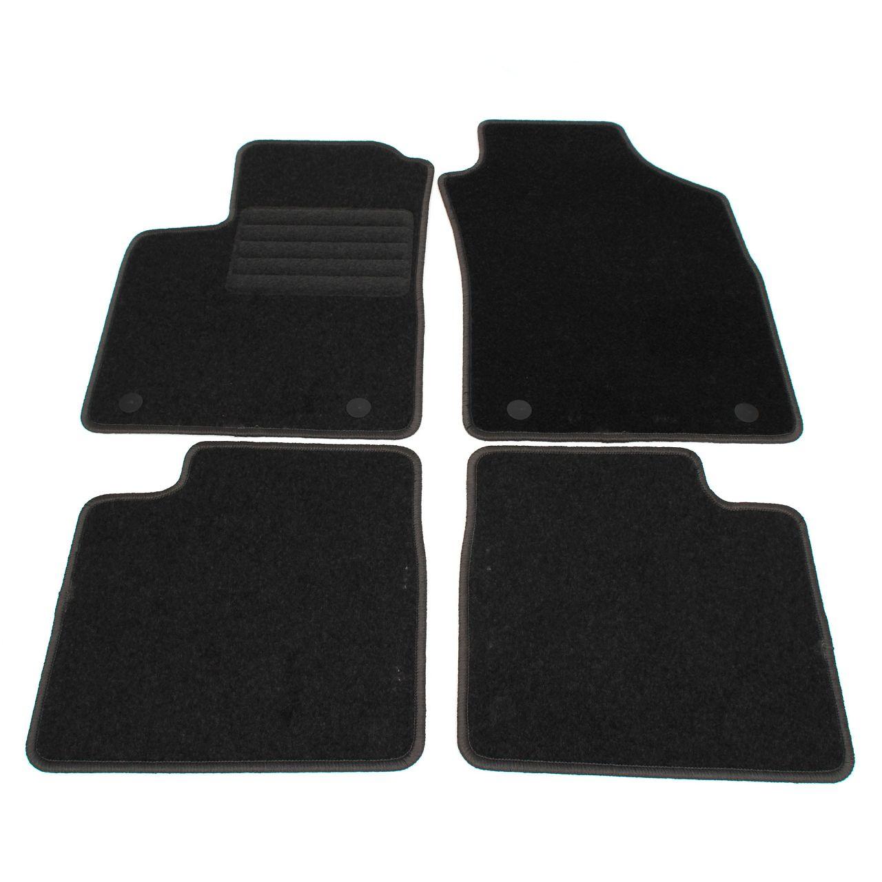 Veloursmatten Textilmatten Fußmatten für FIAT 500 / C (312_) ab 07.2015 4-tlg
