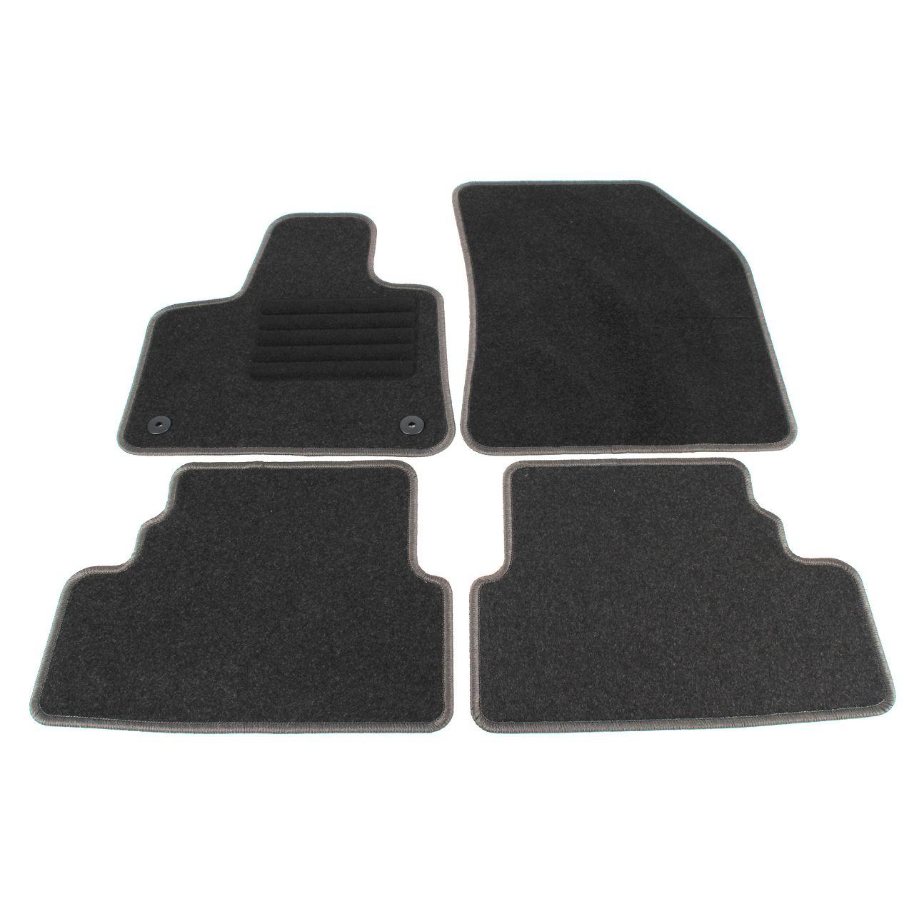 SCHÖNEK Veloursmatten Textilmatten Fußmatten für OPEL GRANDLAND X 4-tlg