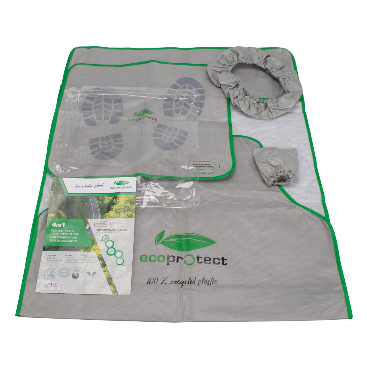 Mehrweg-Schutzset Schoner Eco Protect aus 100 % recycl. PET 4in1 Set