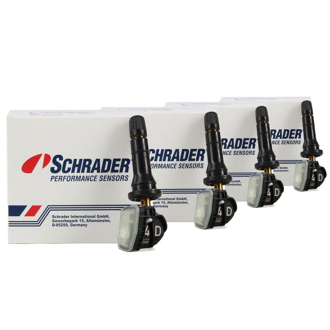 4x SCHRADER Reifendrucksensor Luftdrucksensor OPEL Insignia B bis 2019 13597645
