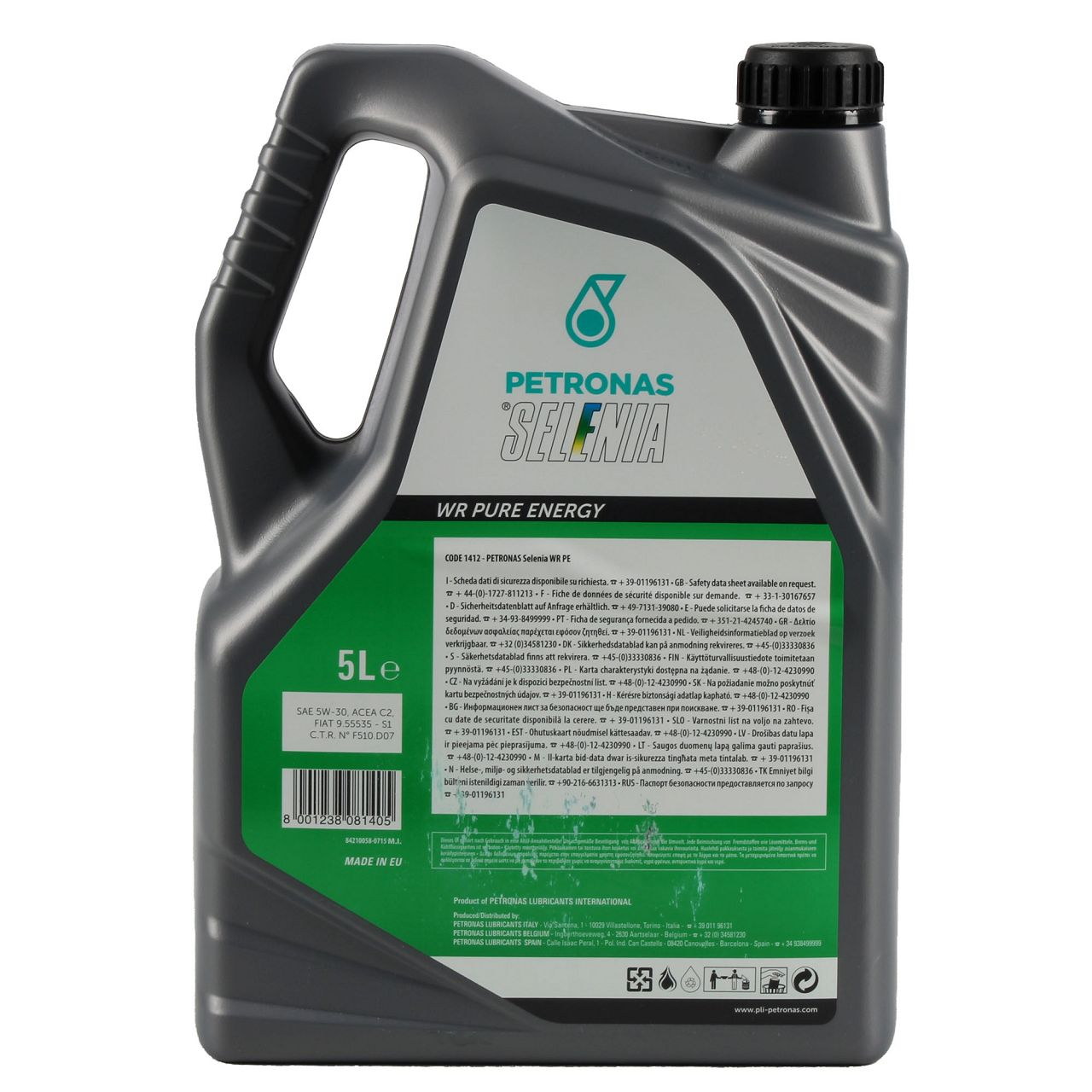 PETRONAS SELENIA Motoröl Öl WR PURE ENERGY 5W30 5W-30 Fiat 9.55535-S1 - 5 Liter