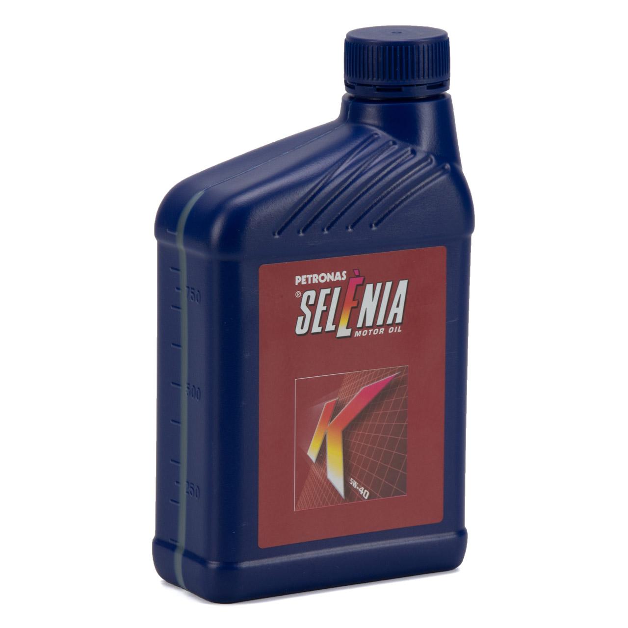 PETRONAS SELENIA Motoröl Öl K 5W40 5W-40 MB 229.3 Fiat 9.55535-M2 - 1 Liter