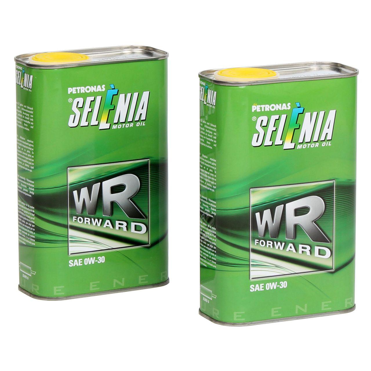 PETRONAS SELENIA Motoröl Öl WR FORWARD 0W30 0W-30 Fiat 9.55535-DS1 - 2L 2 Liter