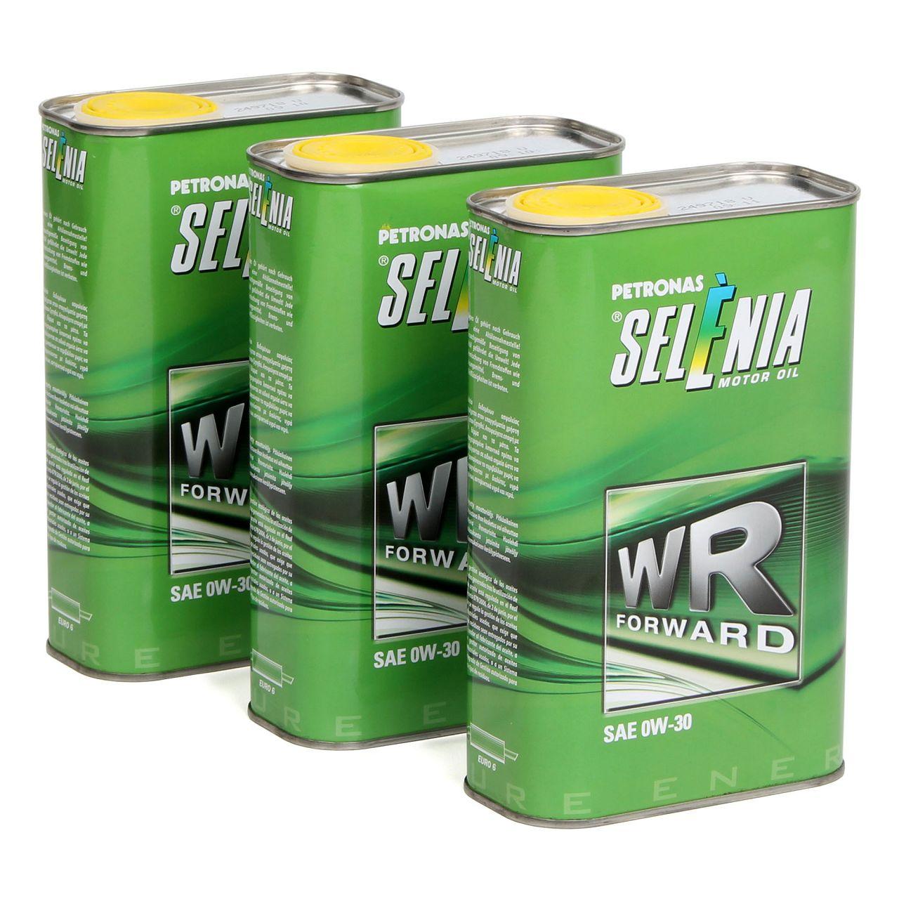 PETRONAS SELENIA Motoröl Öl WR FORWARD 0W30 0W-30 Fiat 9.55535-DS1 - 3L 3 Liter