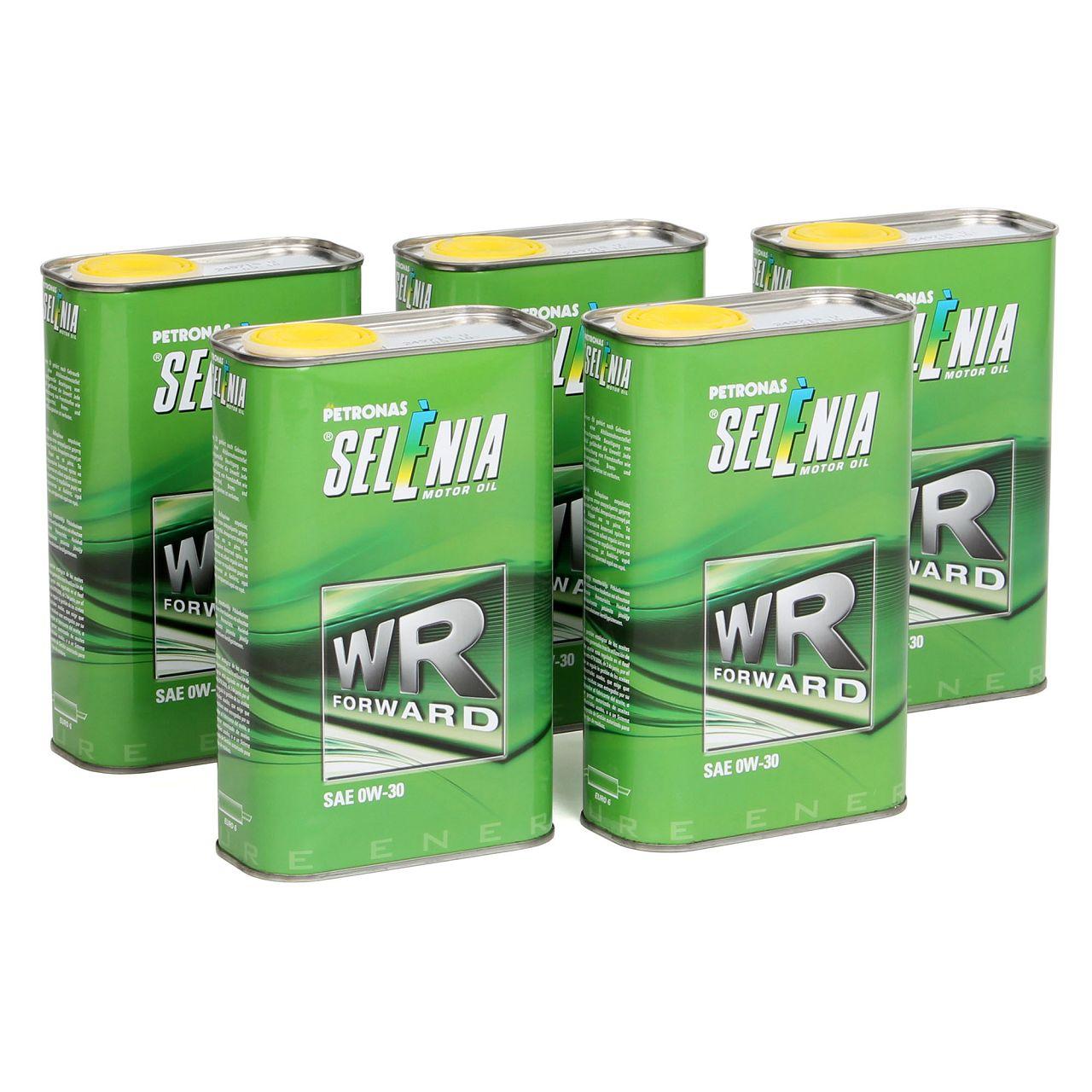 PETRONAS SELENIA Motoröl Öl WR FORWARD 0W30 0W-30 Fiat 9.55535-DS1 - 5L 5 Liter