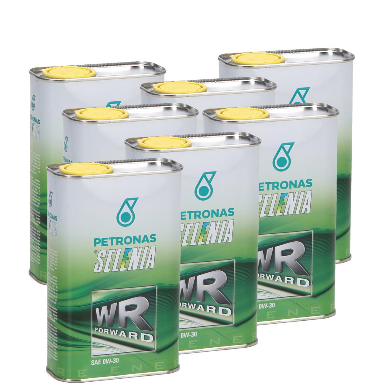 PETRONAS SELENIA Motoröl Öl WR FORWARD 0W30 0W-30 Fiat 9.55535-DS1 - 7L 7 Liter
