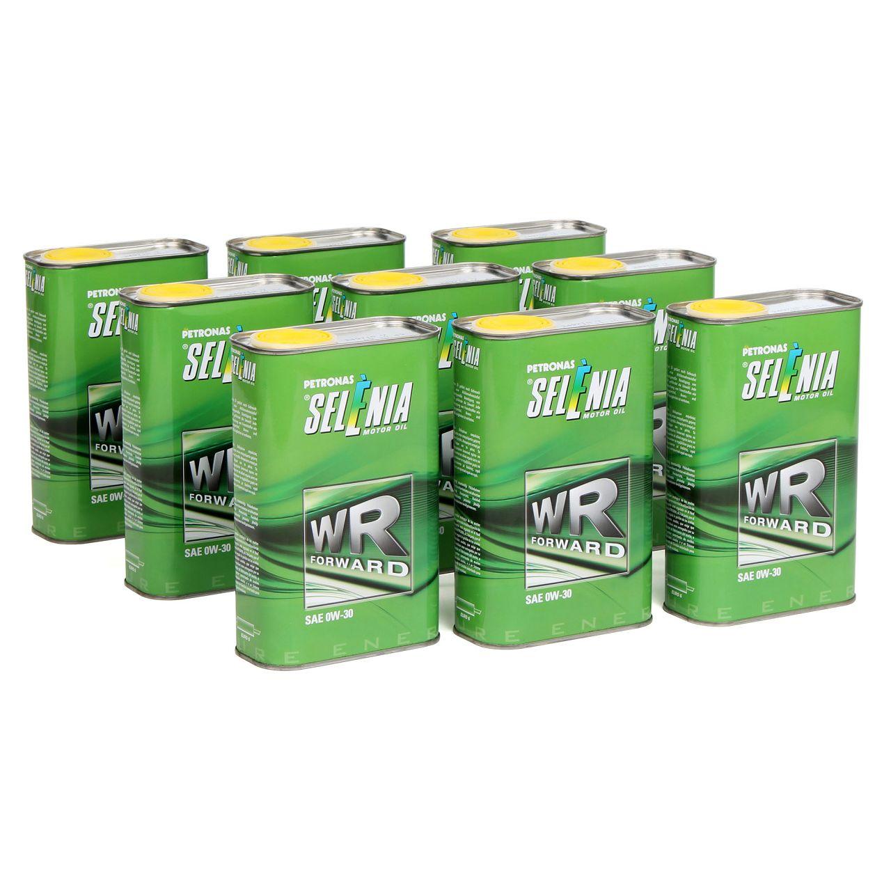 PETRONAS SELENIA Motoröl Öl WR FORWARD 0W30 0W-30 Fiat 9.55535-DS1 - 9L 9 Liter