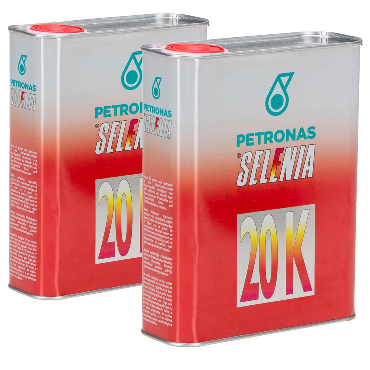 PETRONAS SELENIA Motoröl Öl 20 K 10W-40 10W40 Fat 9.5535-G2/2015 - 4L 4 Liter