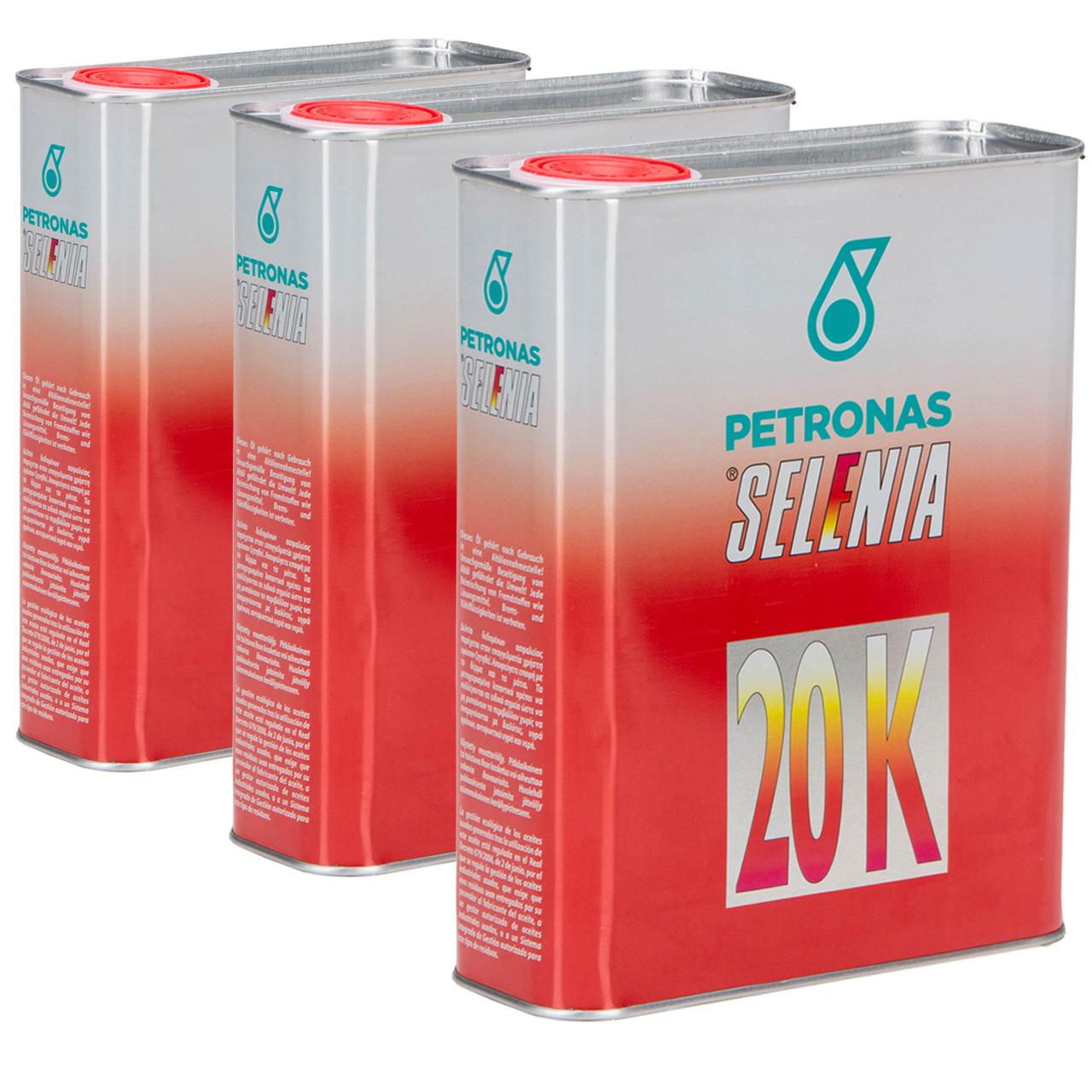 PETRONAS SELENIA Motoröl Öl 20 K 10W-40 10W40 Fat 9.5535-G2/2015 - 6L 6 Liter