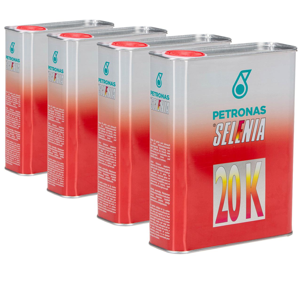 PETRONAS SELENIA Motoröl Öl 20 K 10W-40 10W40 Fat 9.5535-G2/2015 - 8L 8 Liter