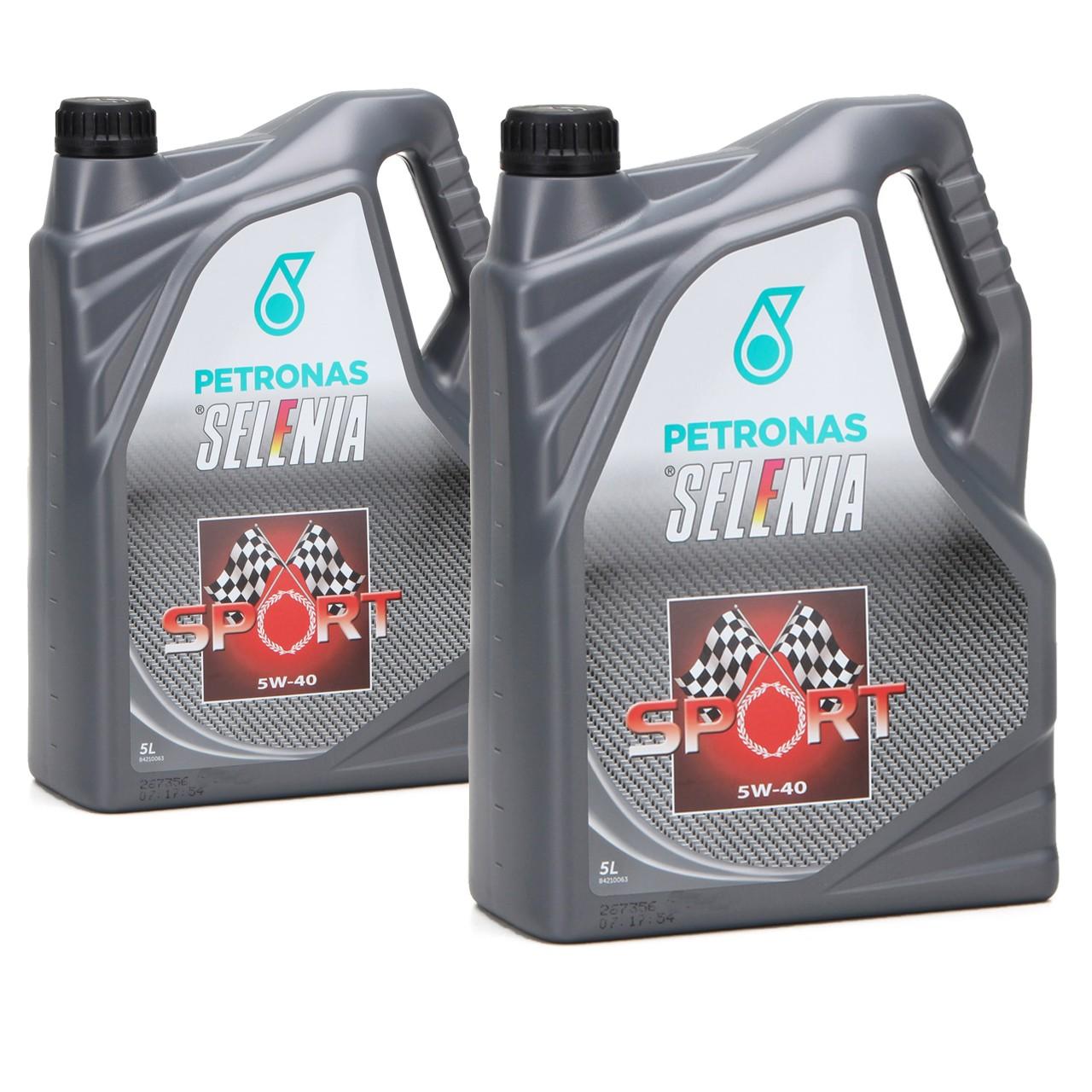 PETRONAS SELENIA Motoröl Öl SPORT 5W40 5W-40 für Fiat 9.55535-Z2 - 10L 10 Liter