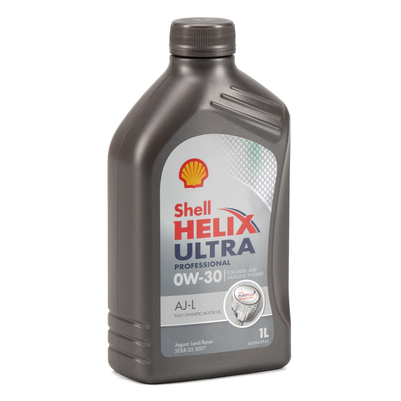 SHELL Motoröl Öl HELIX ULTRA AJ-L 0W30 API SN JAGUAR LAND ROVER - 1L 1 Liter