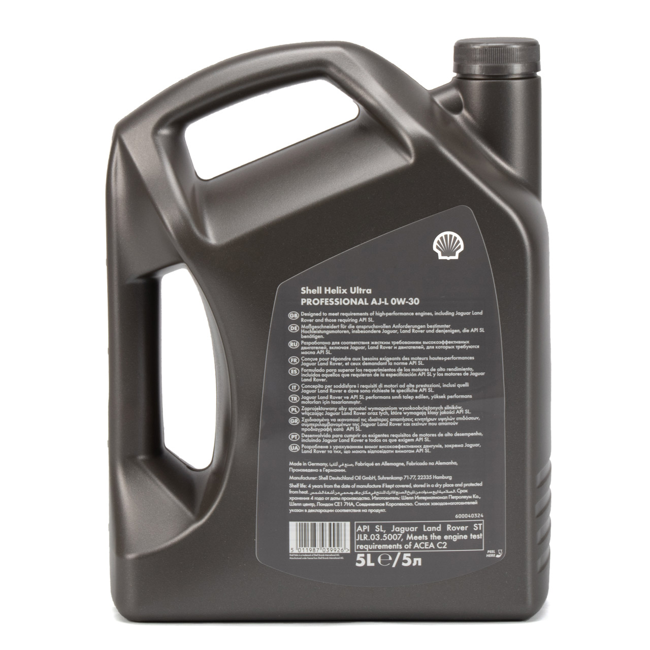 SHELL Motoröl Öl HELIX ULTRA AJ-L 0W30 API SN JAGUAR LAND ROVER - 5L 5 Liter