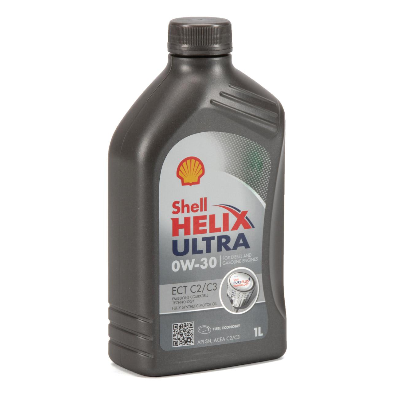 SHELL Motoröl Öl HELIX ULTRA ECT C2/C3 0W30 VW 50400/50700 MB 229.52 - 7 Liter