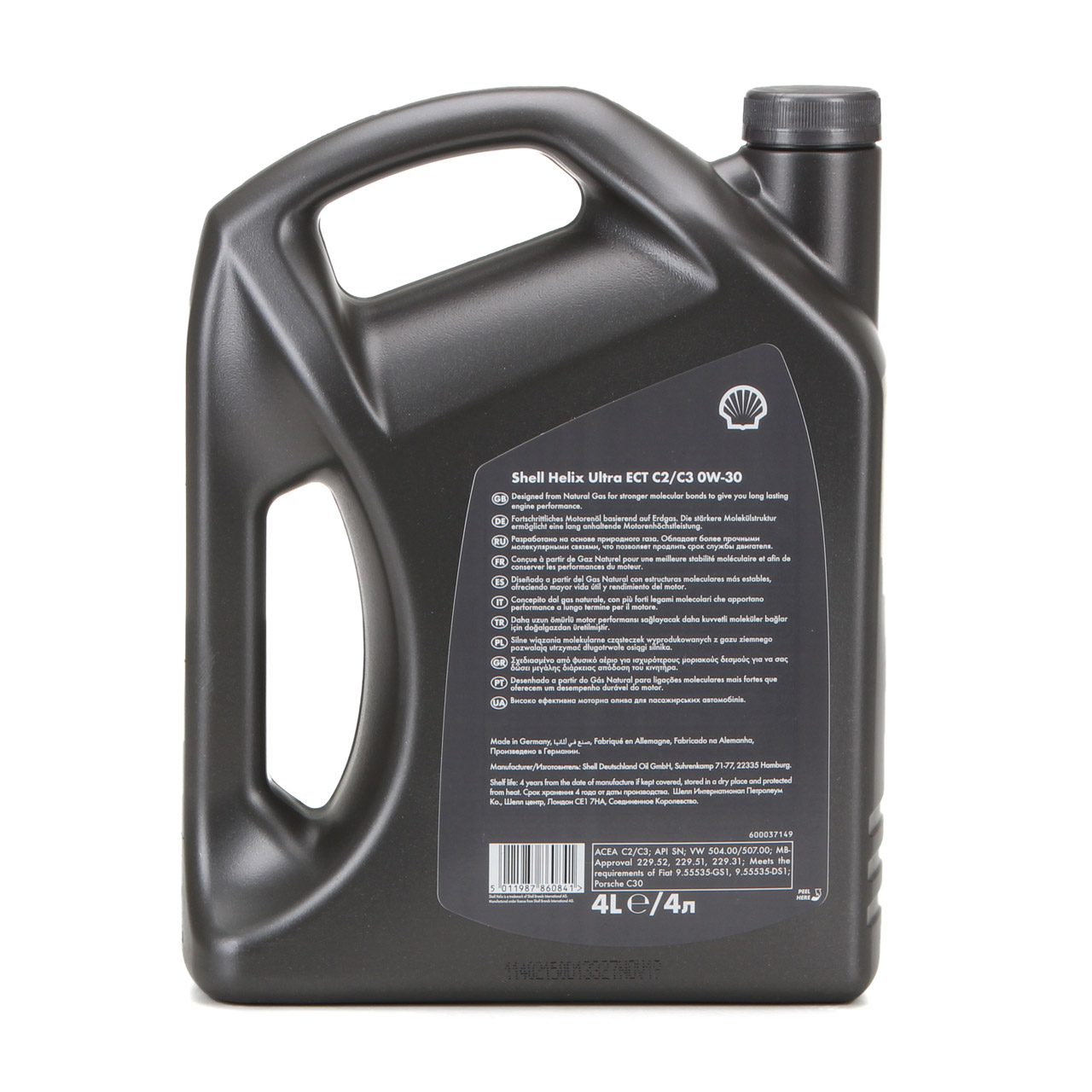 SHELL Motoröl Öl HELIX ULTRA ECT C2/C3 0W30 VW 50400/50700 MB 229.52 - 4 Liter