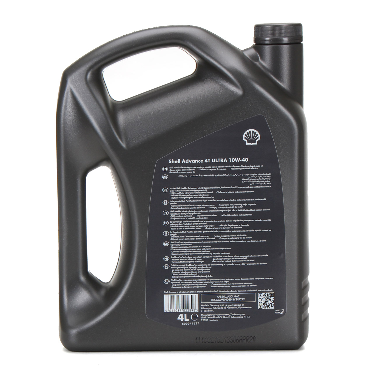 SHELL Motoröl Motorradöl Öl ADVANCE ULTRA 4T 4-TAKT 10W-40 API SN JASO MA-2 - 4L 4 Liter