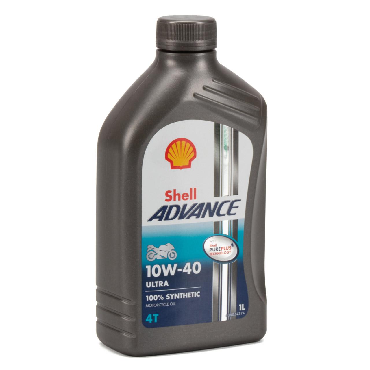SHELL Motoröl Öl ADVANCE ULTRA 4T 4-TAKT 10W-40 API SN JASO MA-2 - 5L 5 Liter