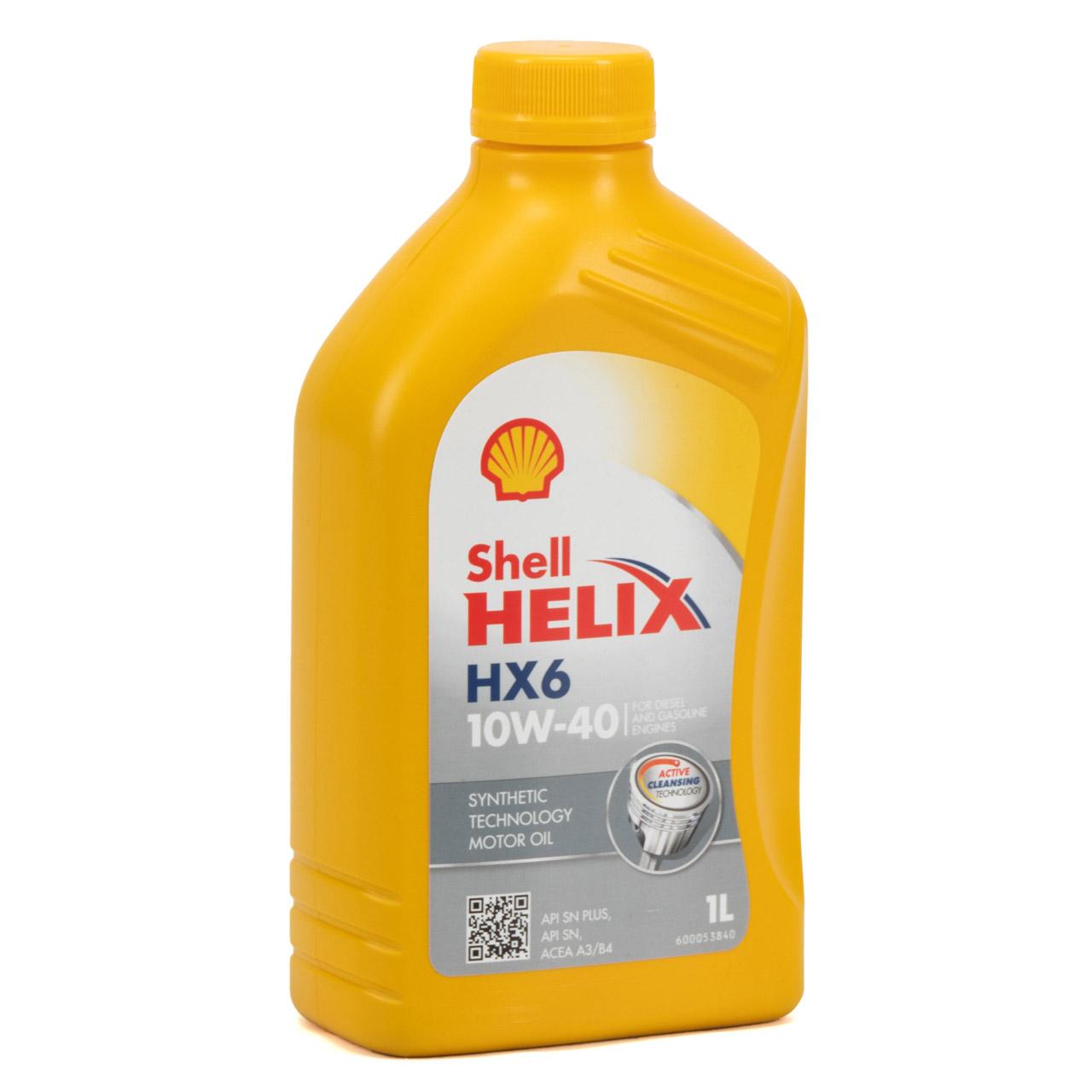 SHELL Motoröl Öl HELIX HX6 10W-40 10W40 MB 229.3 VW 501.01/505.00 - 1L 1 Liter