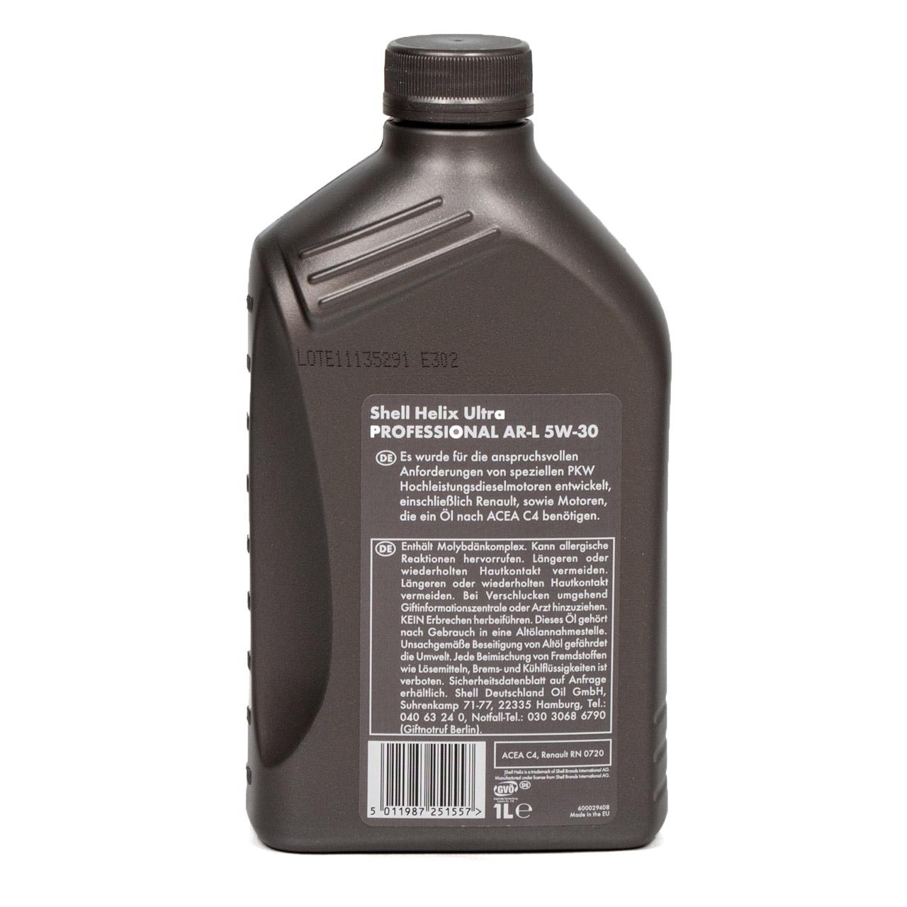 SHELL Motoröl Öl HELIX ULTRA Professional AR-L 5W30 Renault RN0720 - 1L 1 Liter