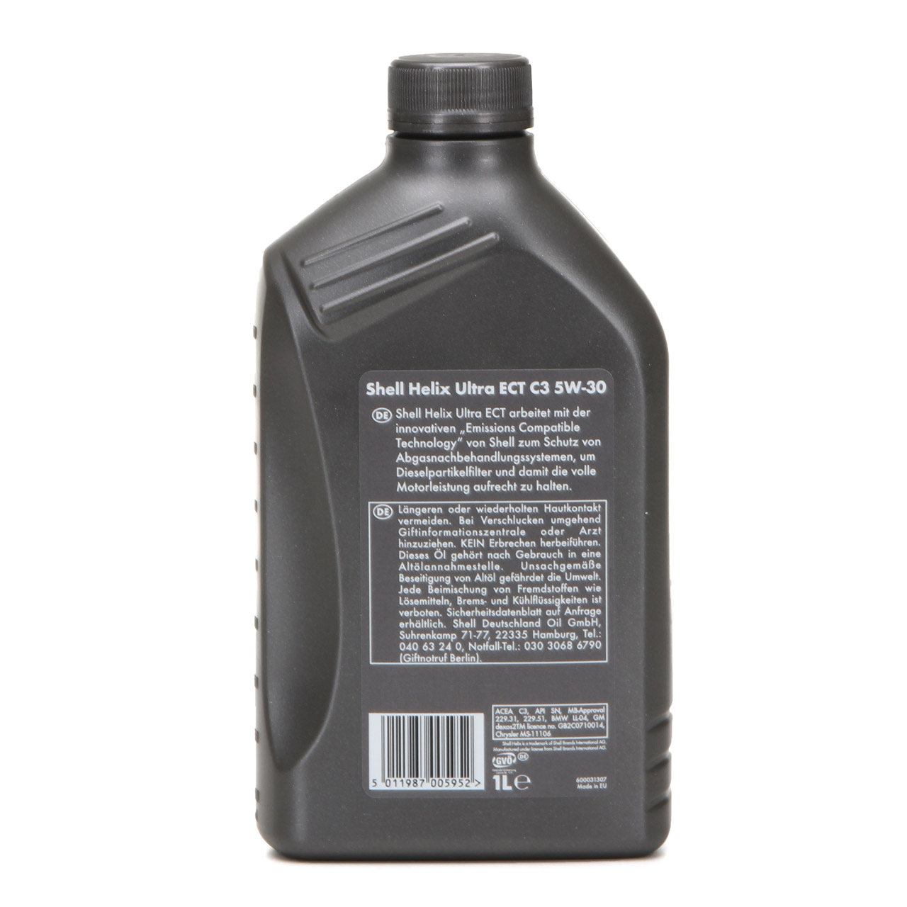 SHELL Motoröl Öl HELIX ULTRA ECT C3 5W30 dexos2 BMW LL-04 MB 229.51 - 1L 1 Liter