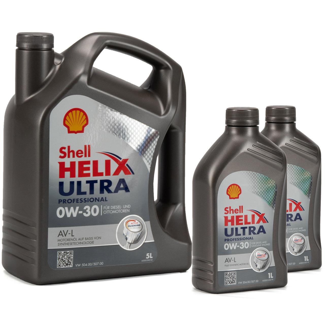 SHELL Motoröl Öl HELIX ULTRA Professional AV-L 0W30 VW 504.00/507.00 - 7 Liter