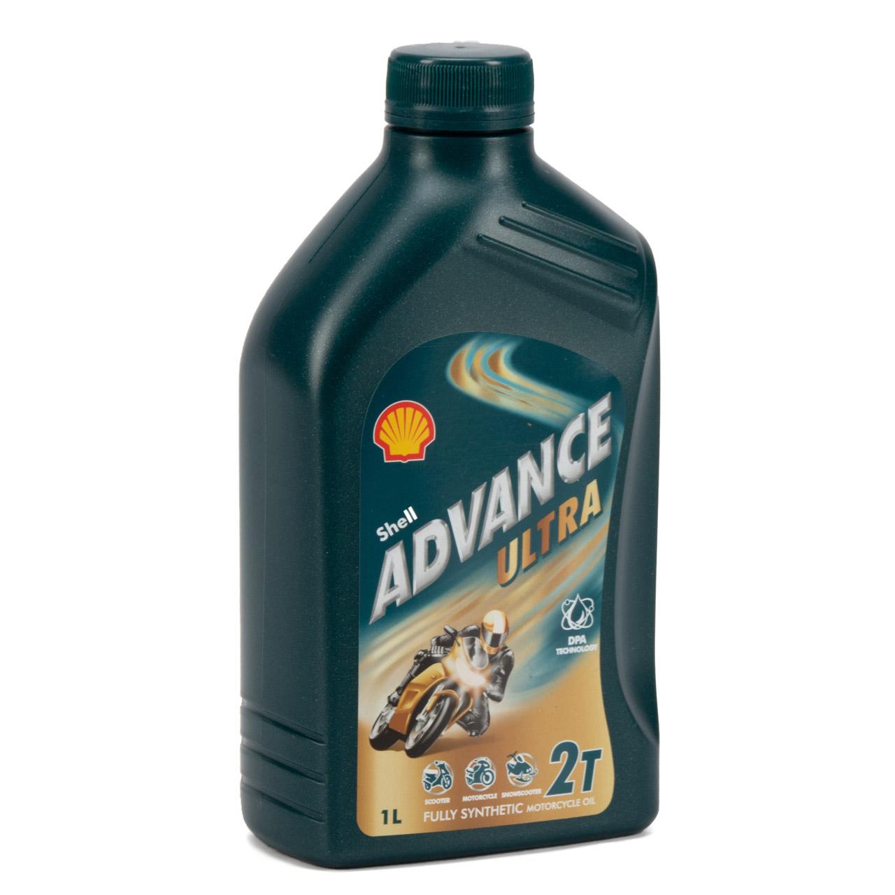SHELL Motoröl Öl ADVANCE ULTRA 2T 2-TAKT JASO FD API TC ISO EGD - 1L 1 Liter