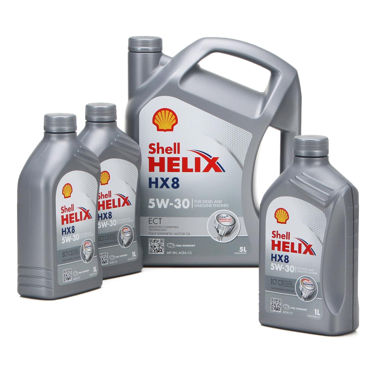 SHELL Motoröl ÖL HELIX HX8 ECT C3 5W-30 5W30 für MB 229.31 229.51 - 8L 8 Liter