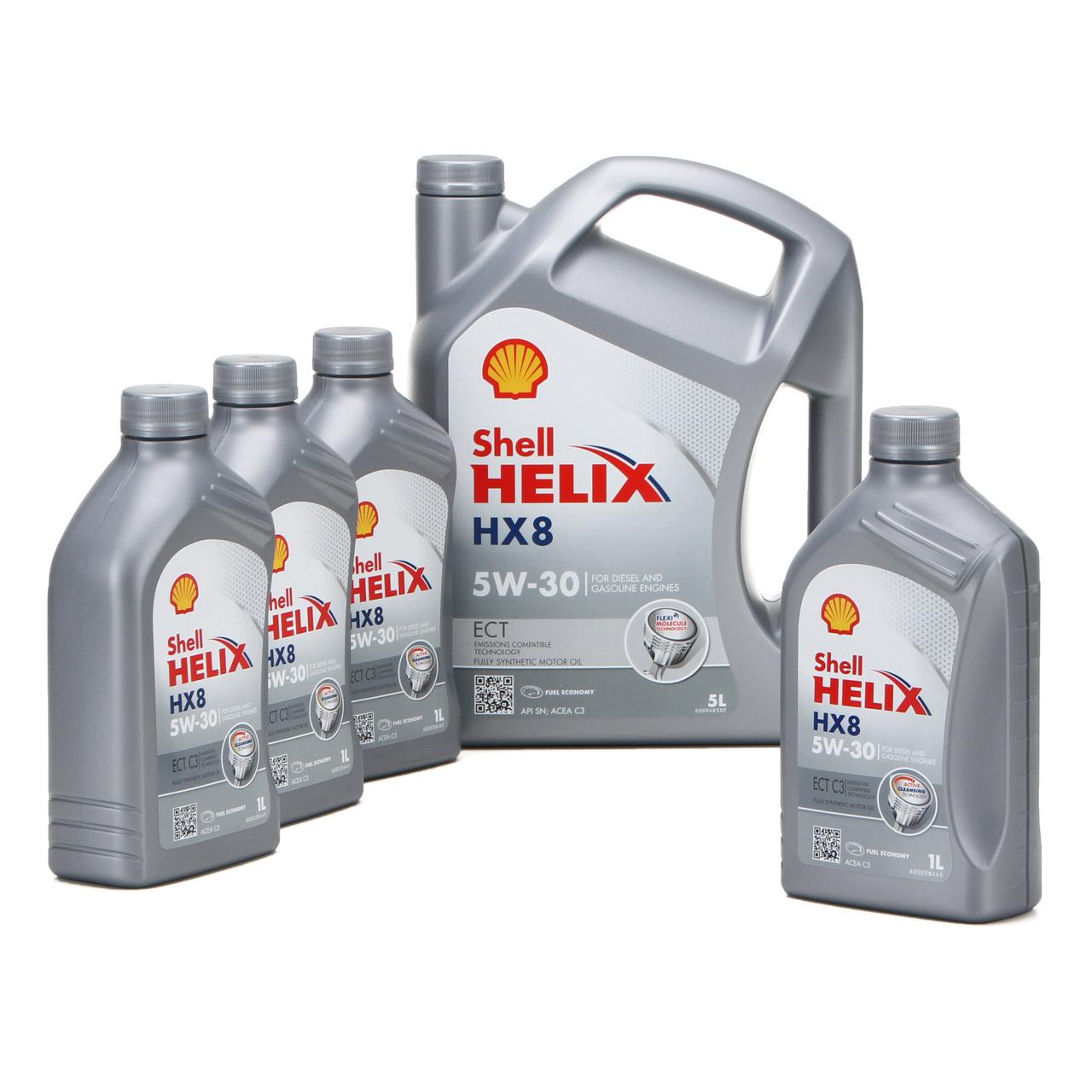 SHELL Motoröl ÖL HELIX HX8 ECT C3 5W-30 5W30 für MB 229.31 229.51 - 9L 9 Liter