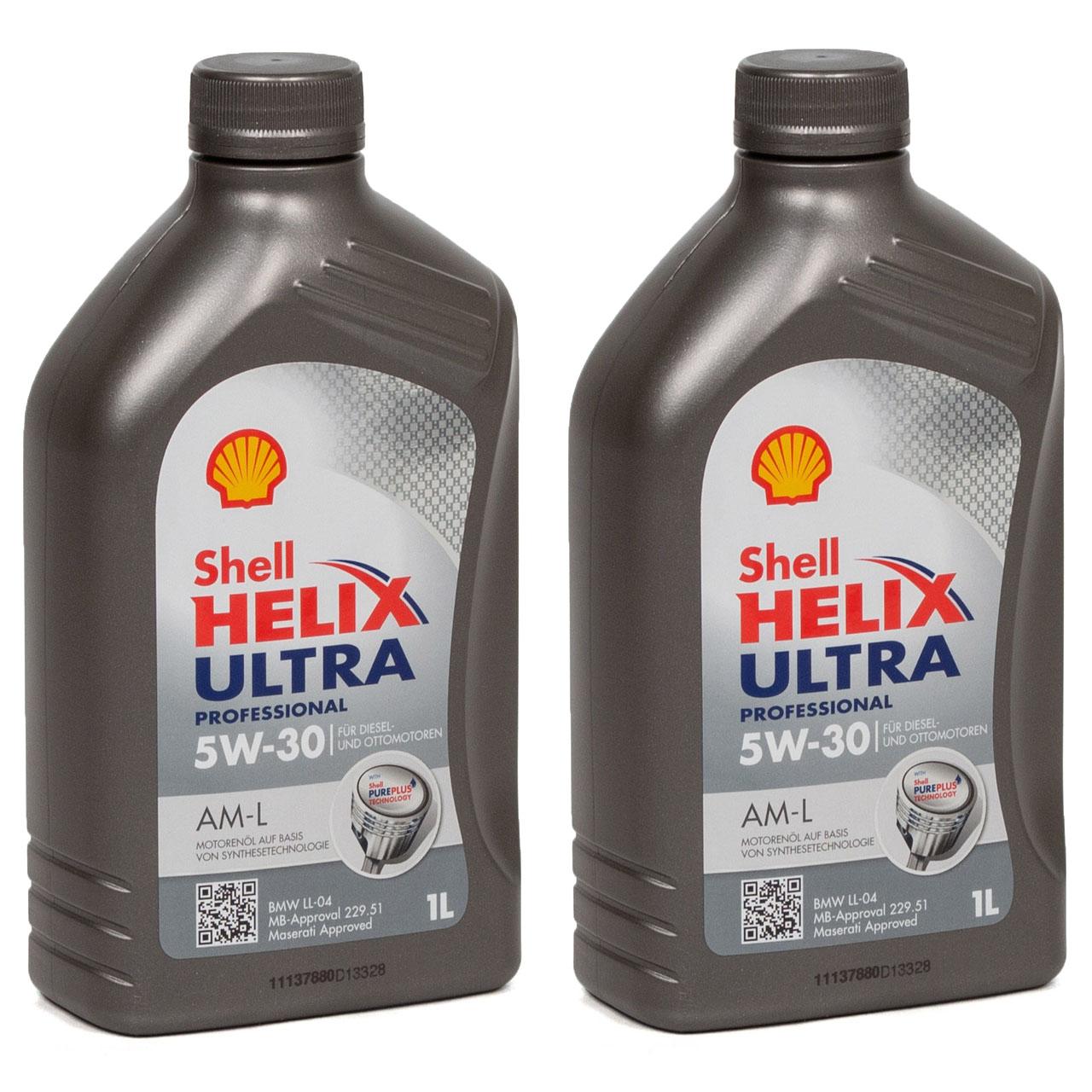 SHELL Motoröl Öl HELIX ULTRA Professional AM-L 5W30 für BMW LL-04 - 2L 2 Liter