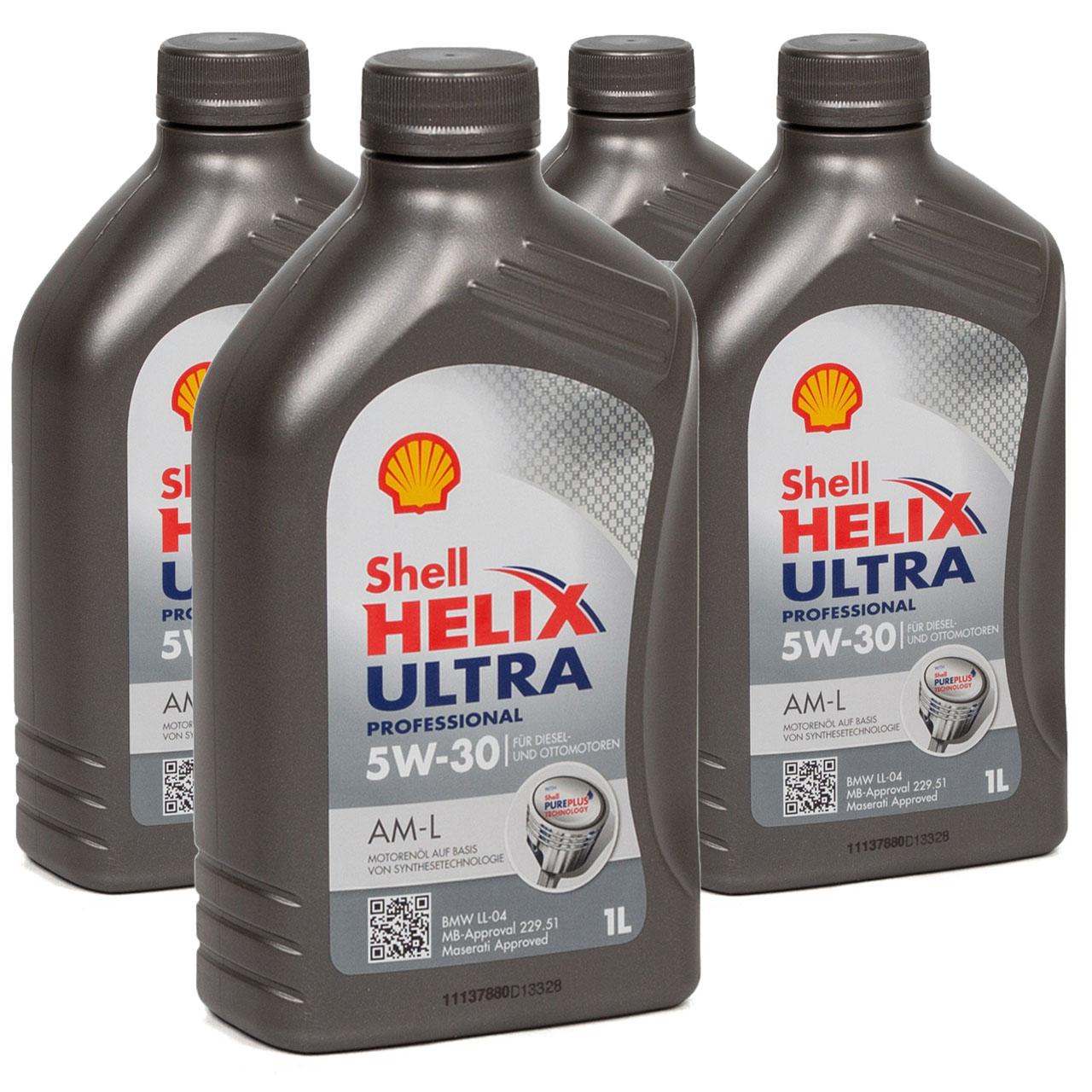 SHELL Motoröl Öl HELIX ULTRA Professional AM-L 5W30 für BMW LL-04 - 4L 4 Liter