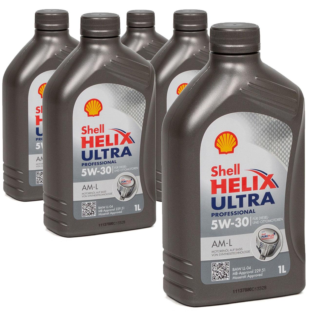 SHELL Motoröl Öl HELIX ULTRA Professional AM-L 5W30 für BMW LL-04 - 5L 5 Liter