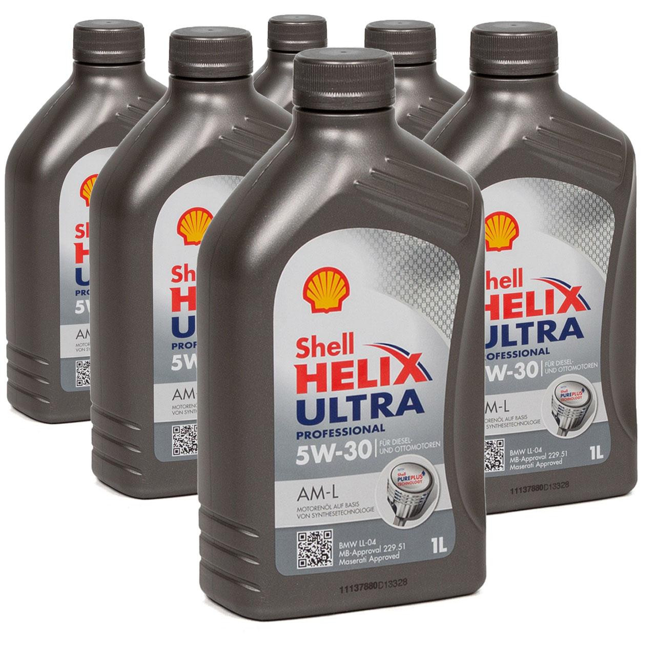 SHELL Motoröl Öl HELIX ULTRA Professional AM-L 5W30 für BMW LL-04 - 6L 6 Liter