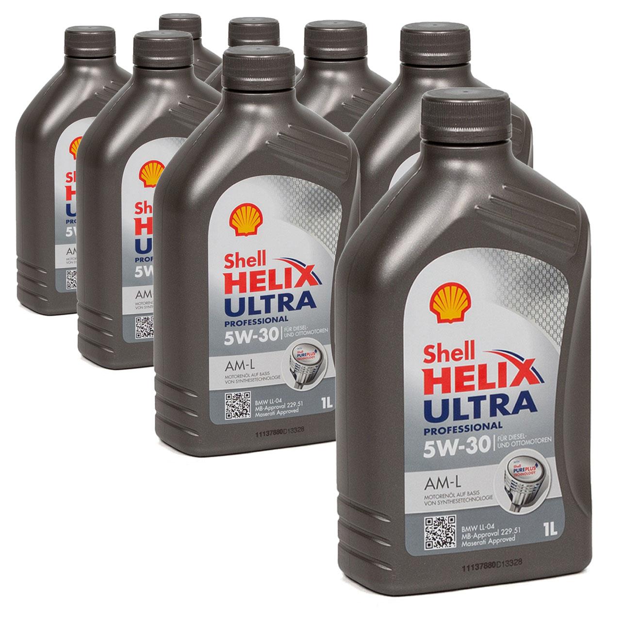 SHELL Motoröl Öl HELIX ULTRA Professional AM-L 5W30 für BMW LL-04 - 8L 8 Liter